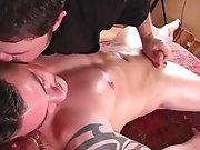Massage avec finition d'un hétéro !