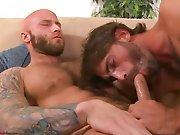 Gay tatoué suce et se fait péter la rondelle