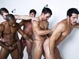 Rugbymen gay en troisieme mi temps sous la…